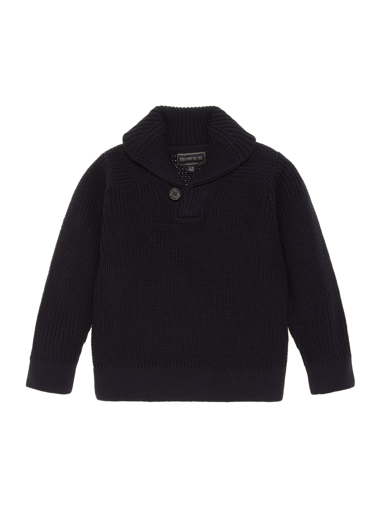 Boys shawl collar jumper