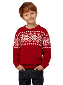 Boy`s snowflake jumper