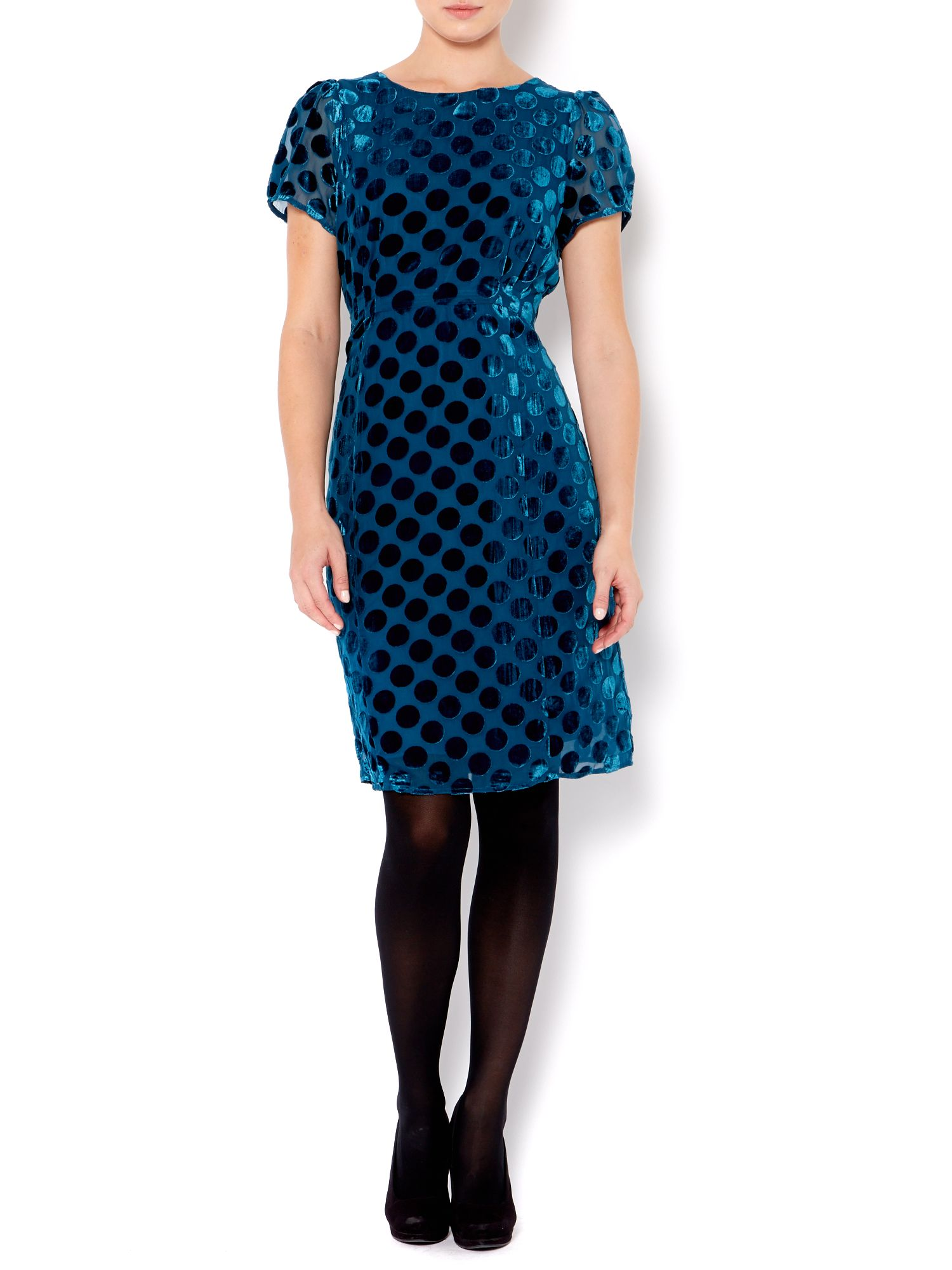 Ladies spot devore dress