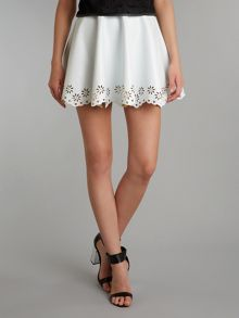 Lashes Lasercut flare skirt