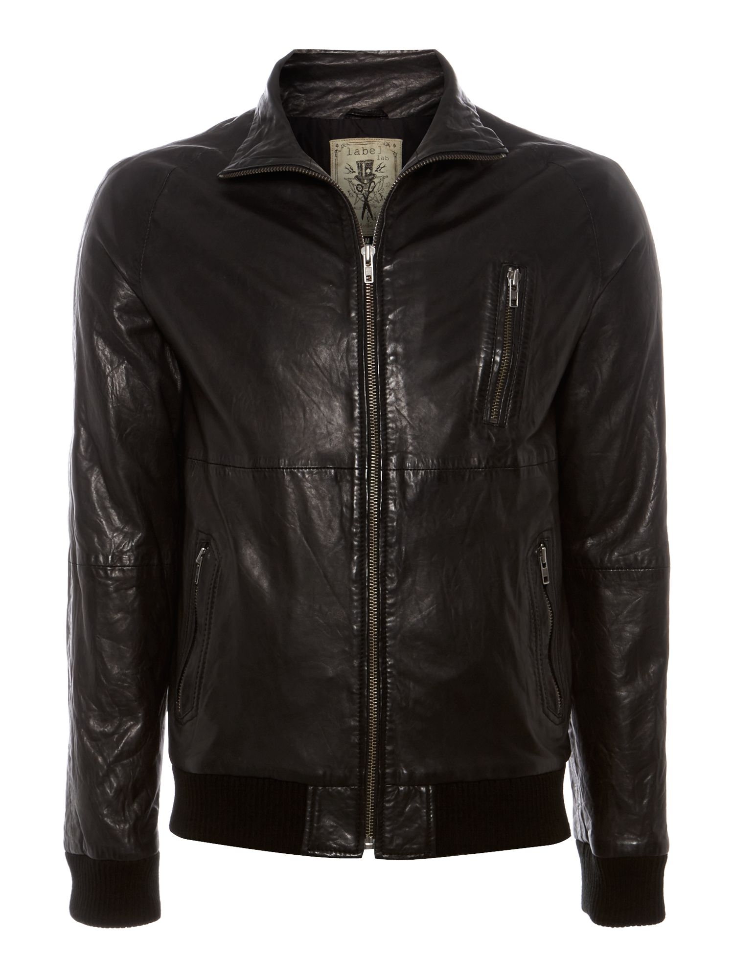 valens leather bomber jacket