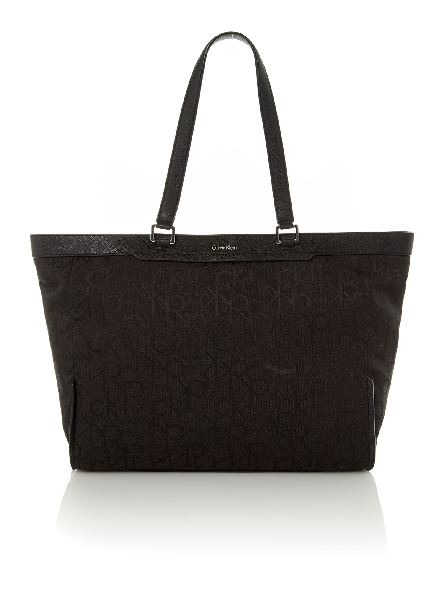 Jaquard logo black tote bag
