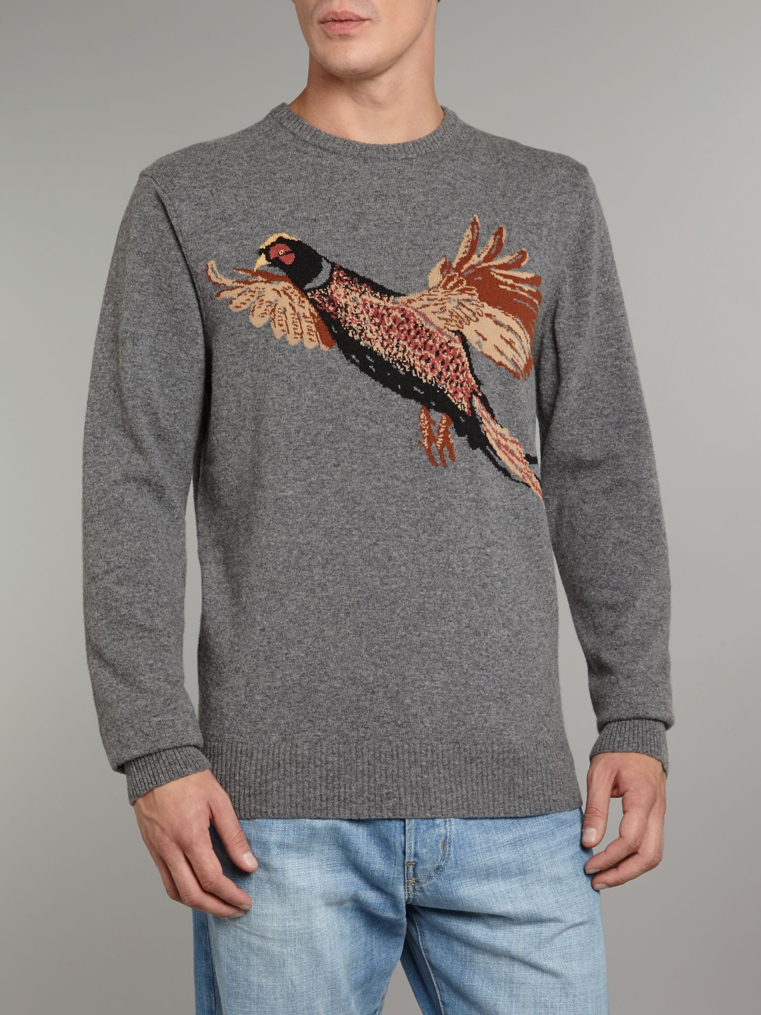 Pheasant crew neck jumper