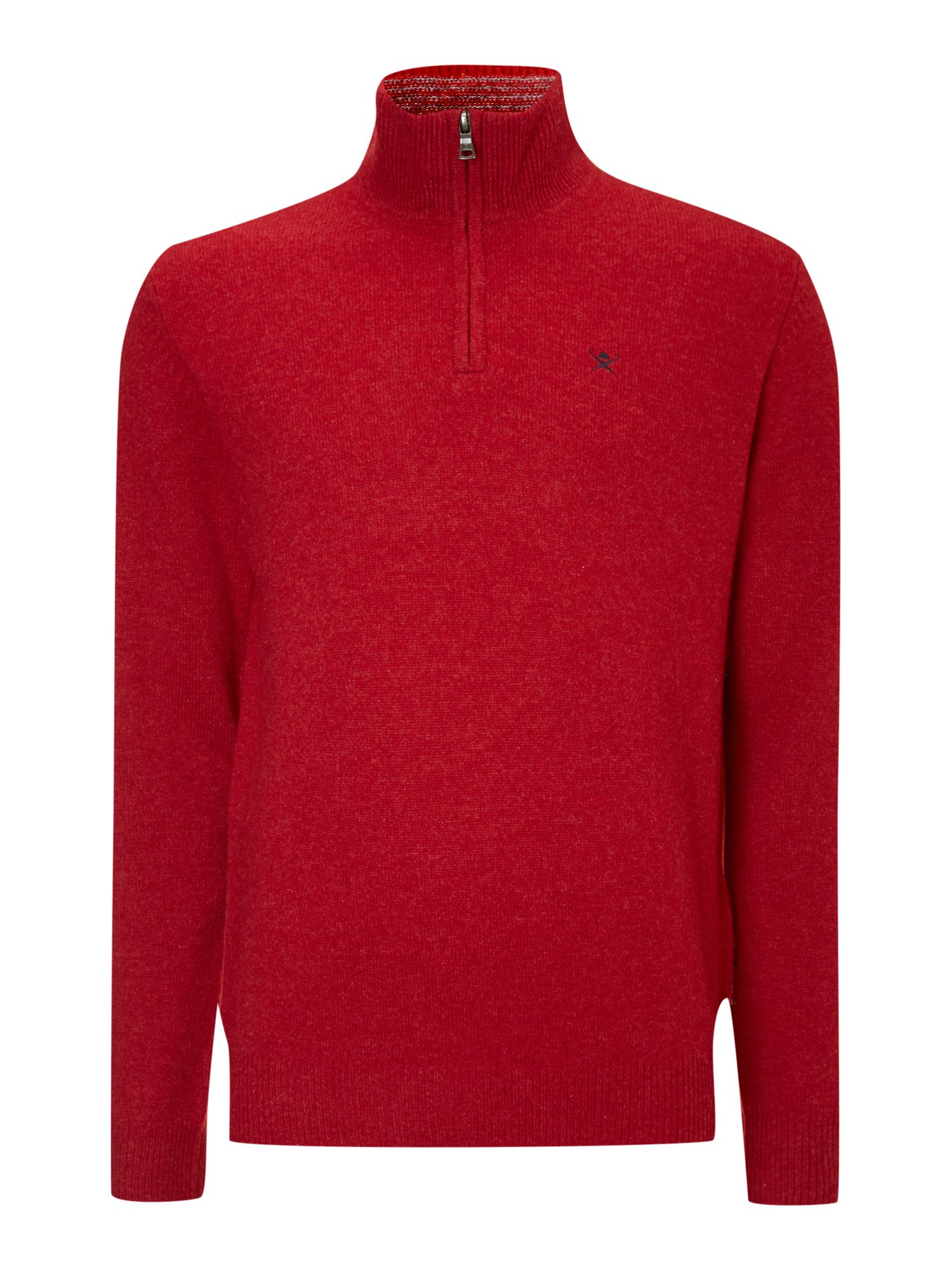 Half zip knit with logo