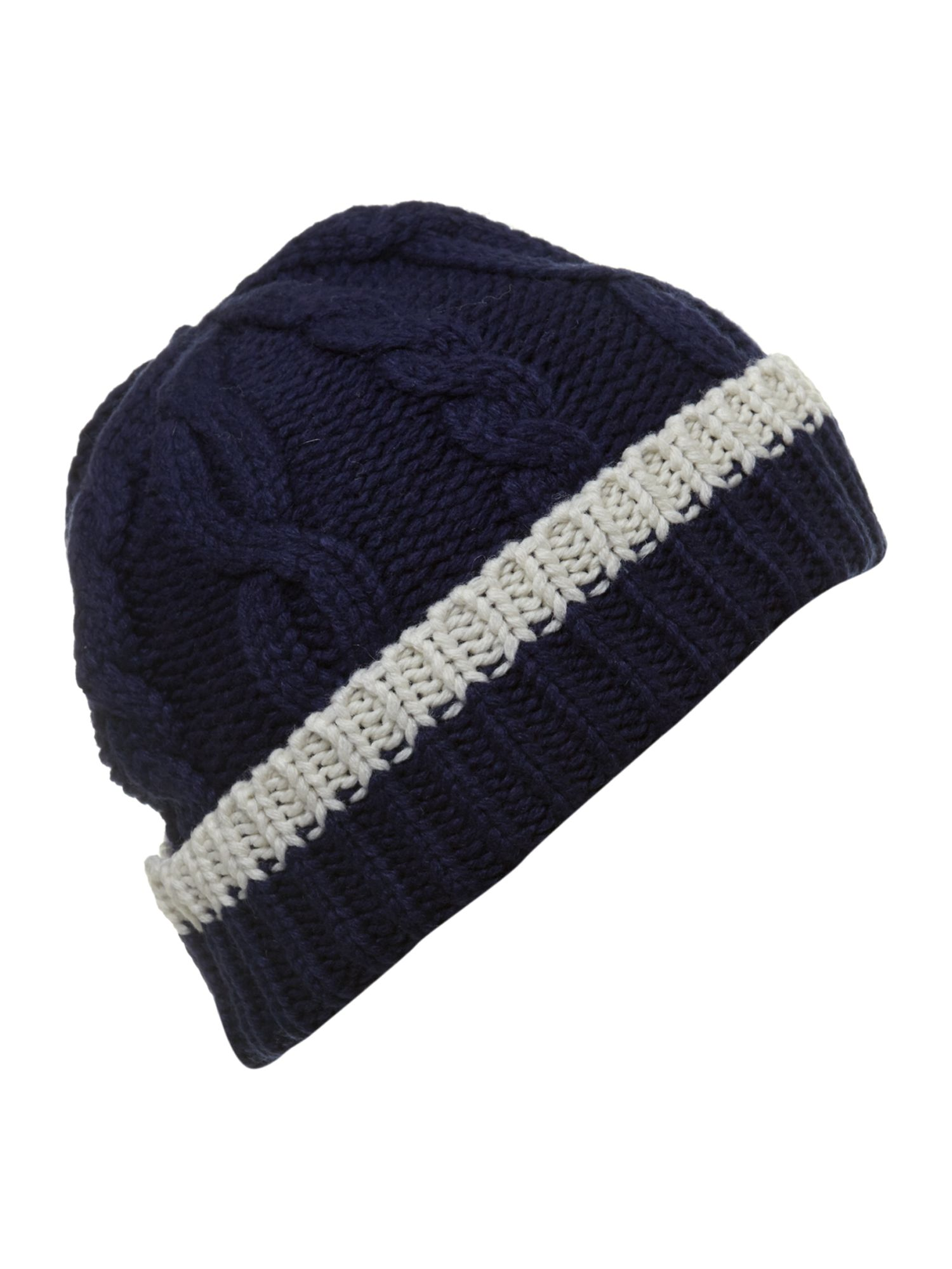 Westby cable knit beanie hat