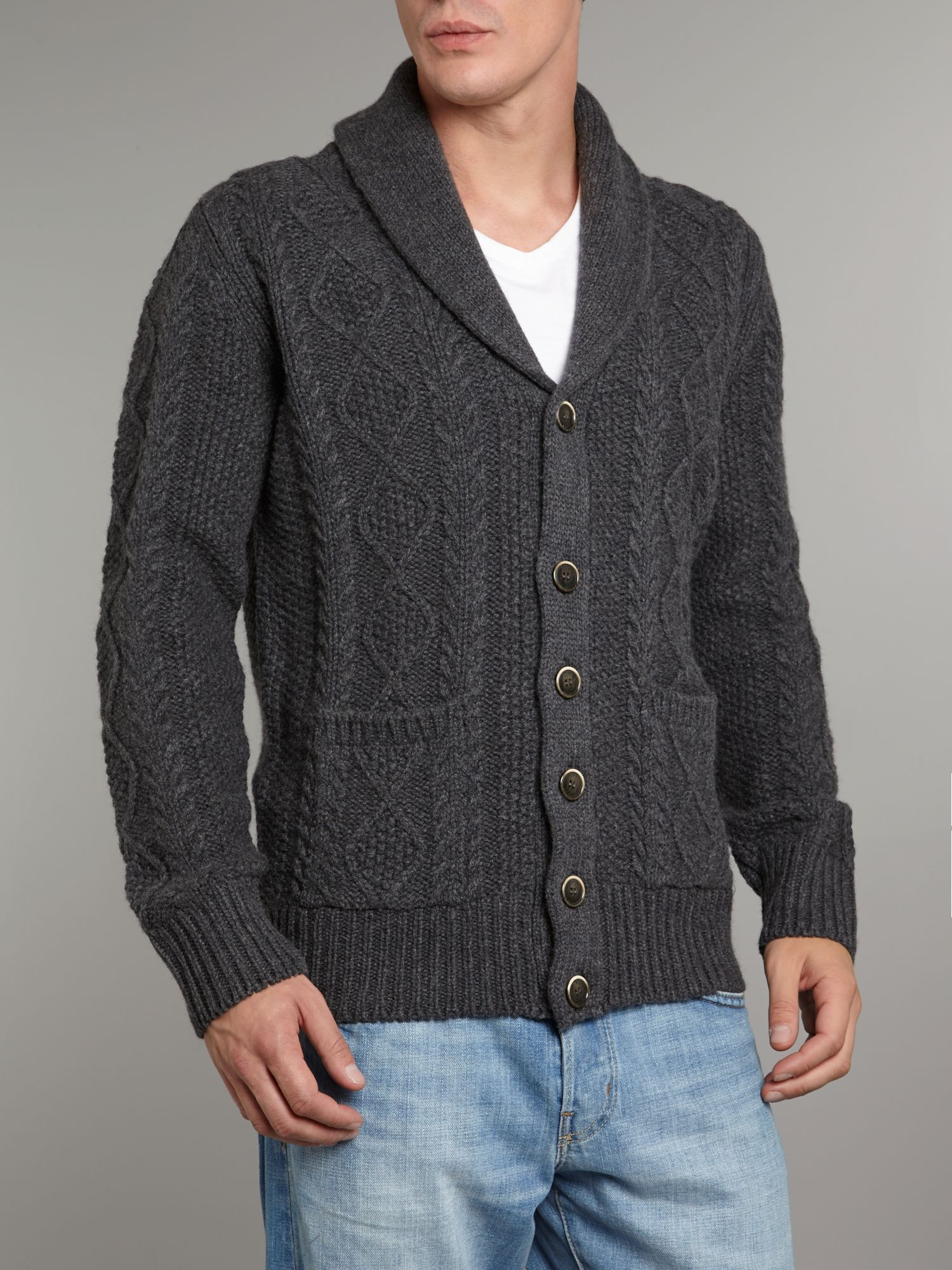 Multi shawl knit cardigan