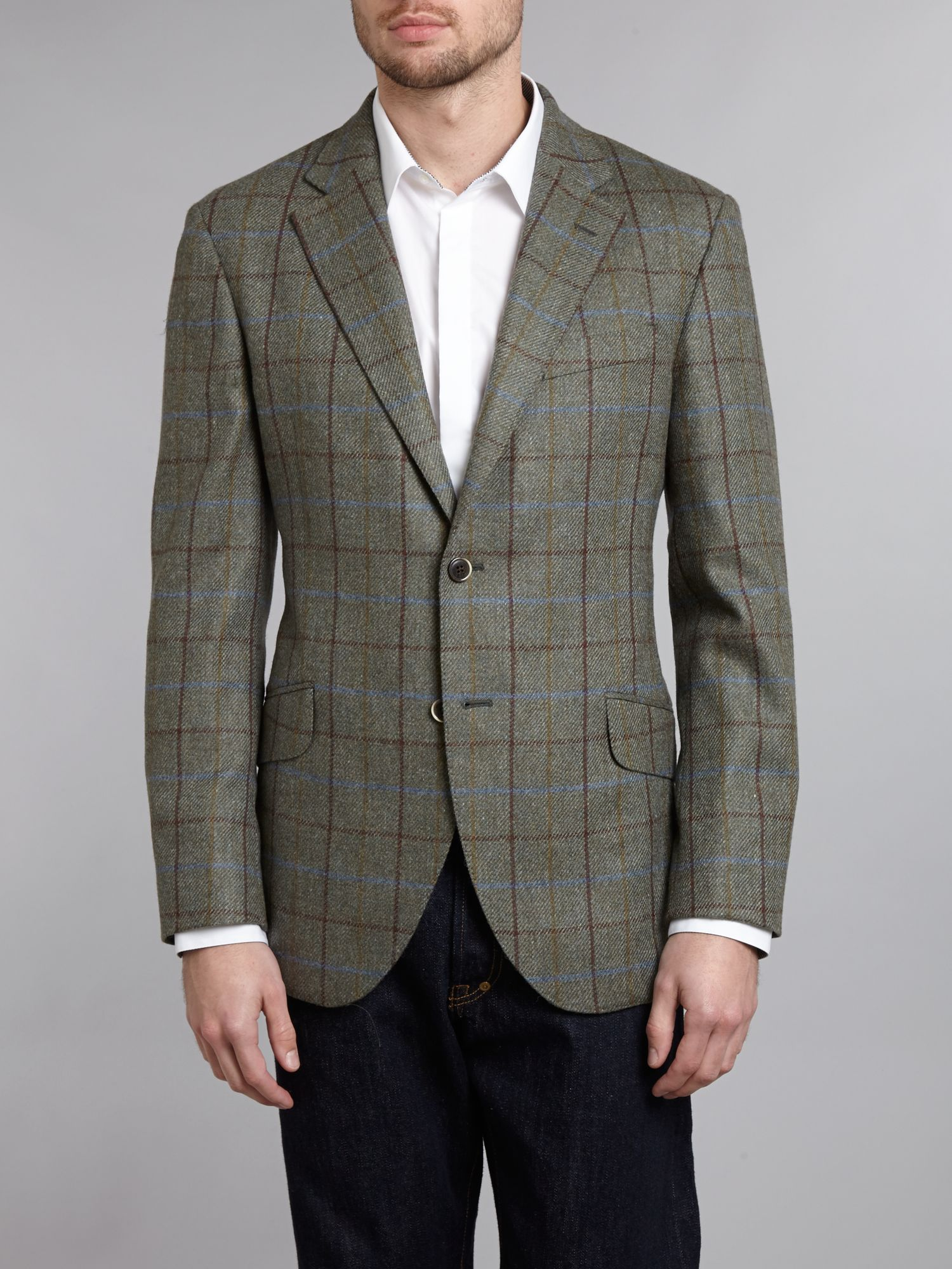 Multi windowpane blazer