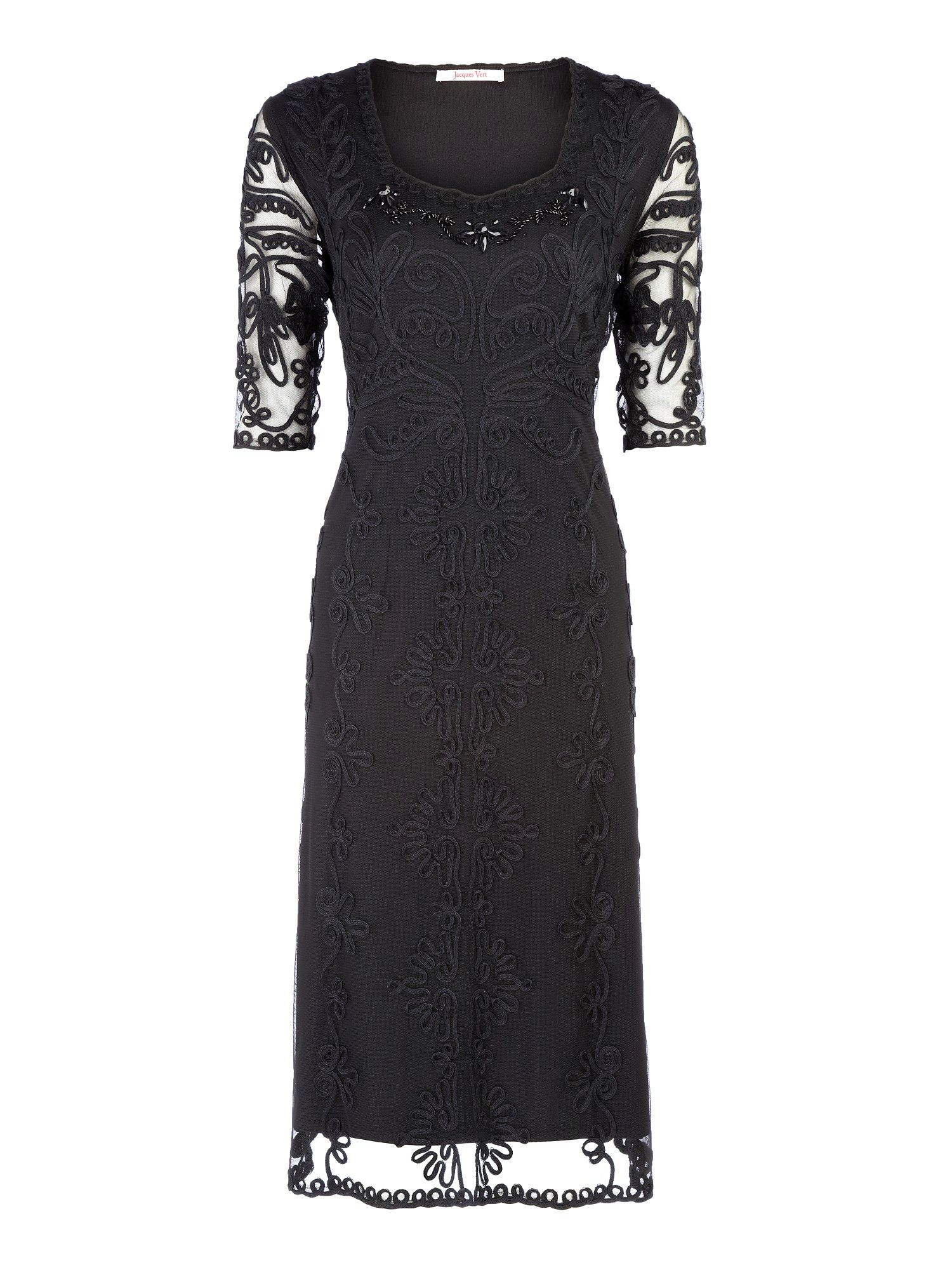 Black cornelli evening dress