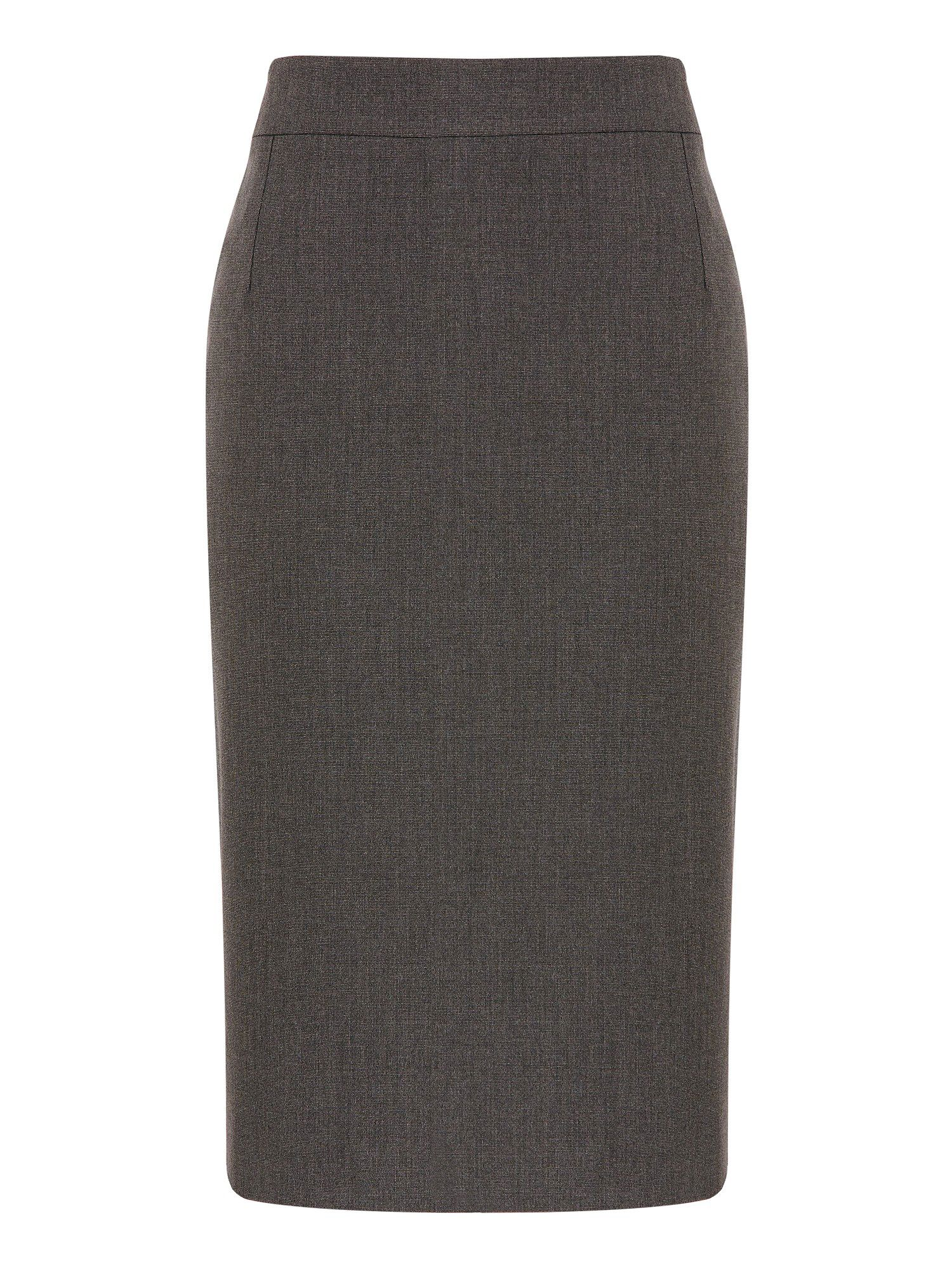 Pin dot pencil skirt