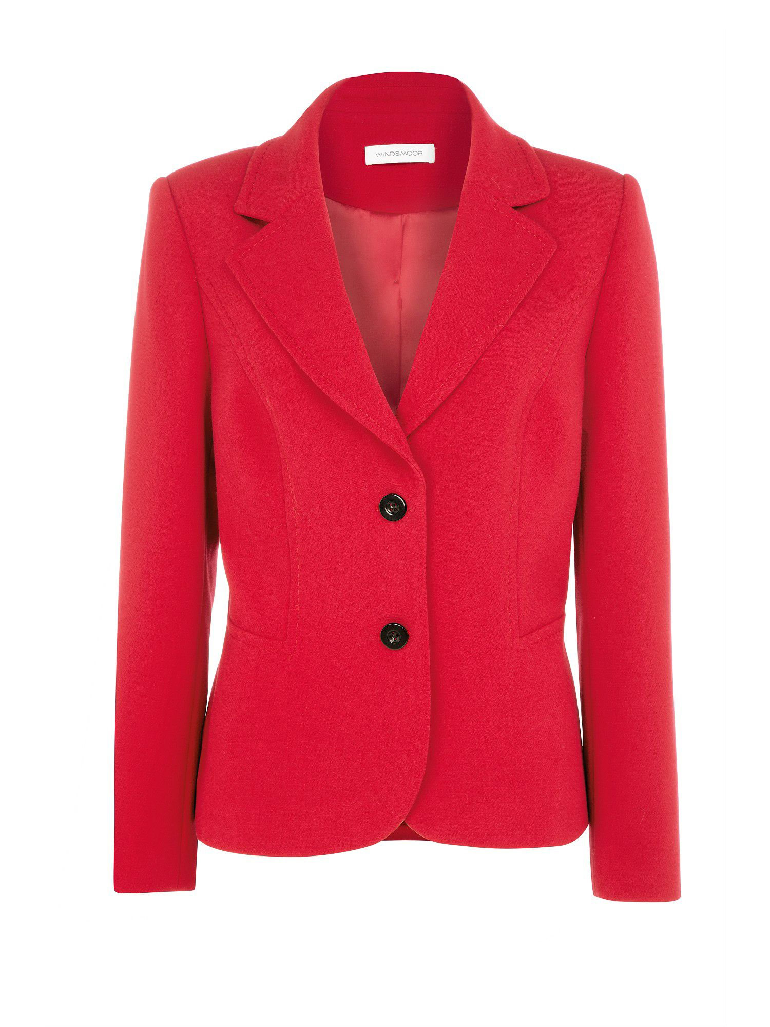 Red tailored jacket