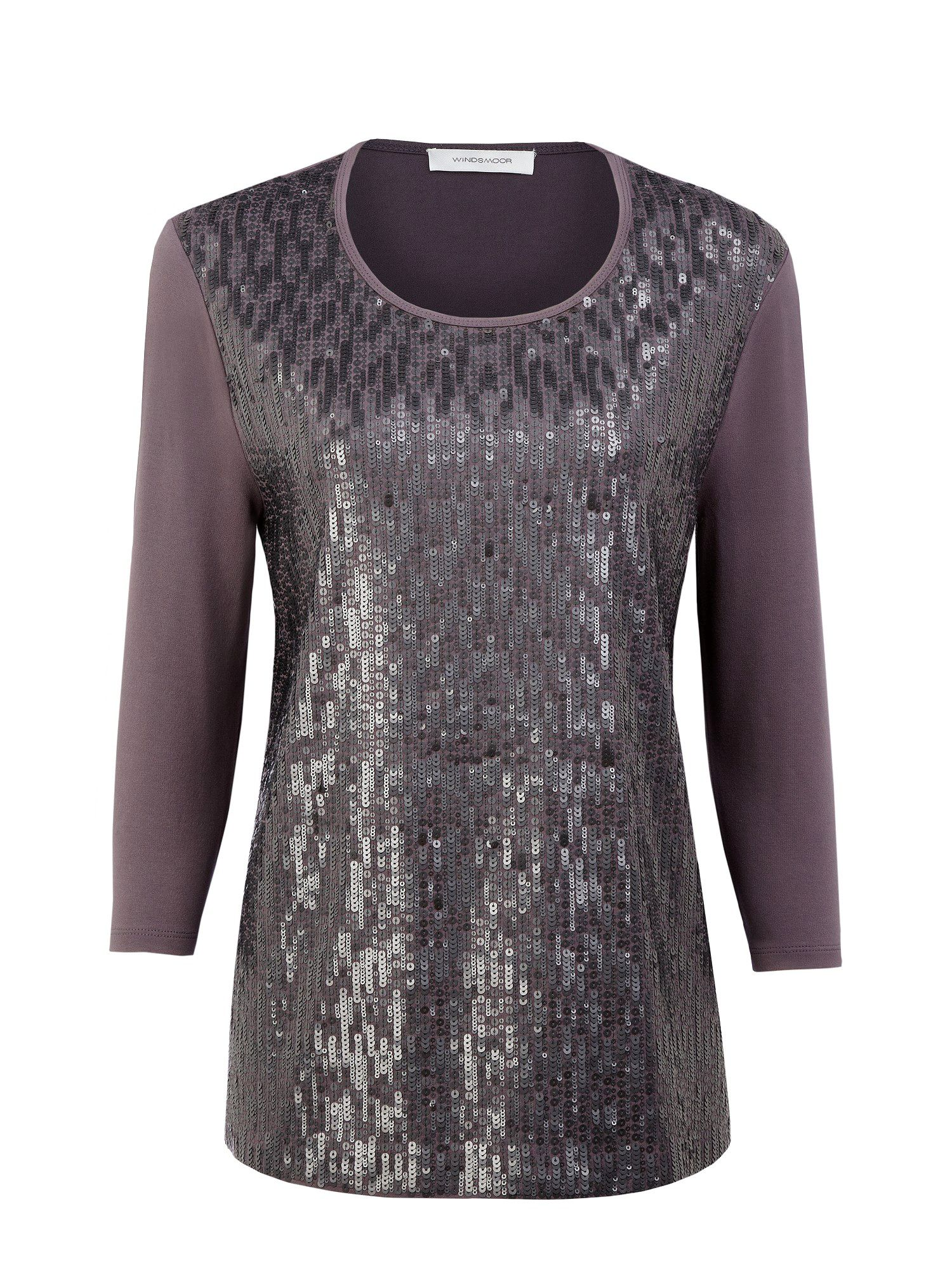 Dove grey sequin top