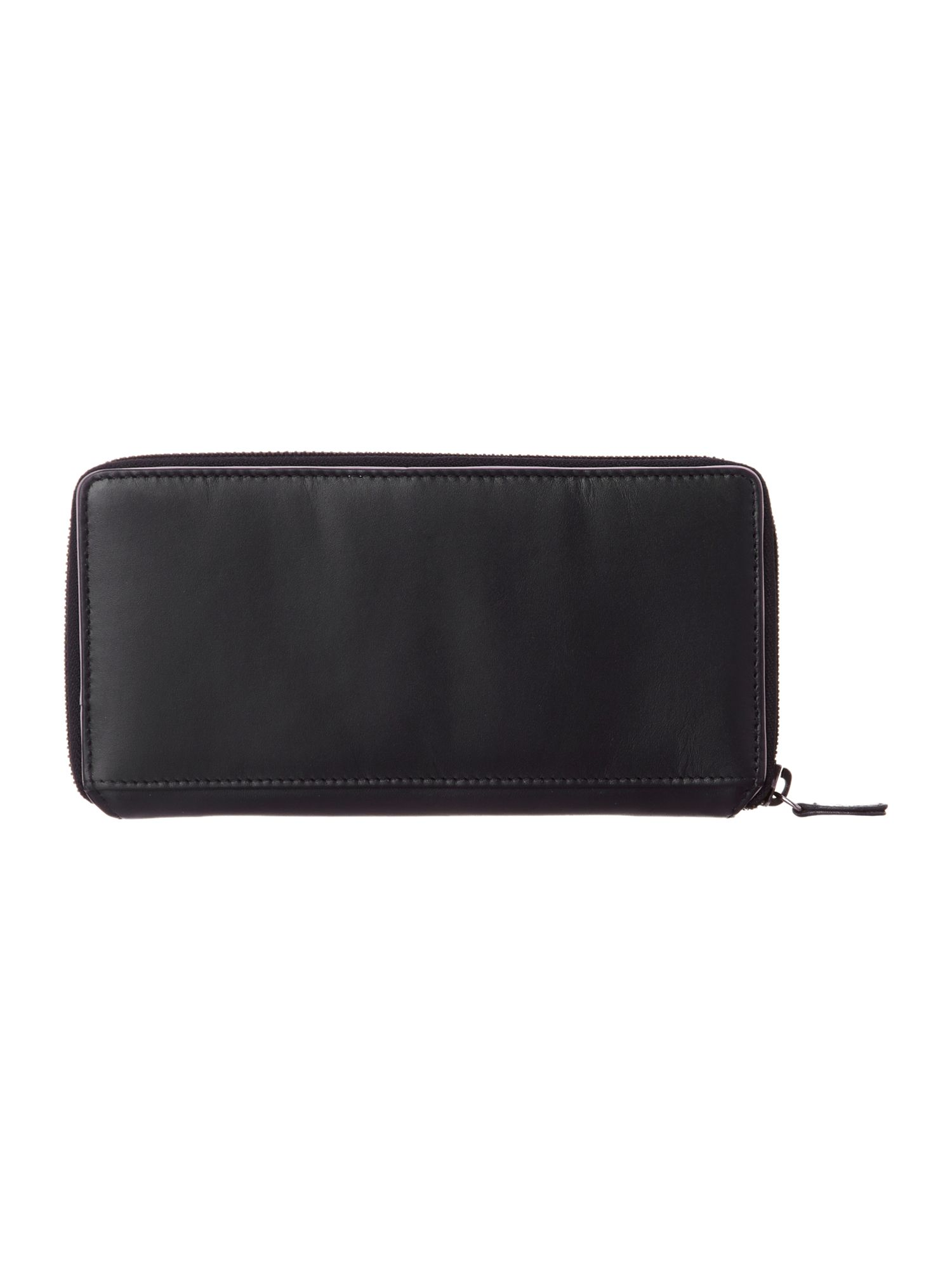 Blair black large zip around purse