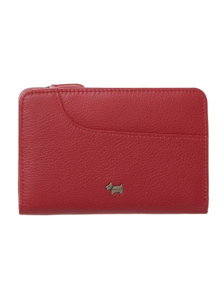 Radley Red pocket zip around purse