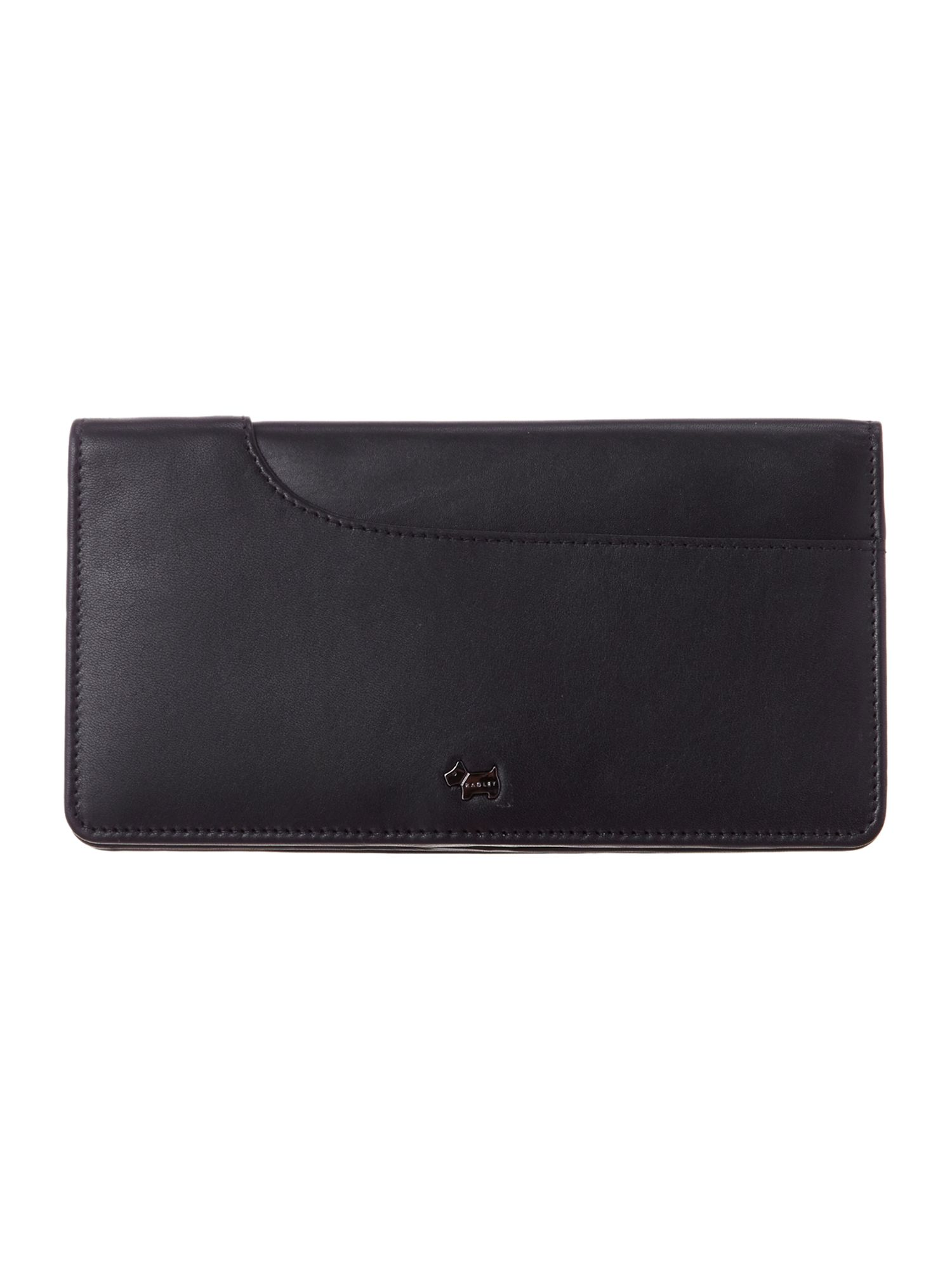 Black pocket large flap over purse