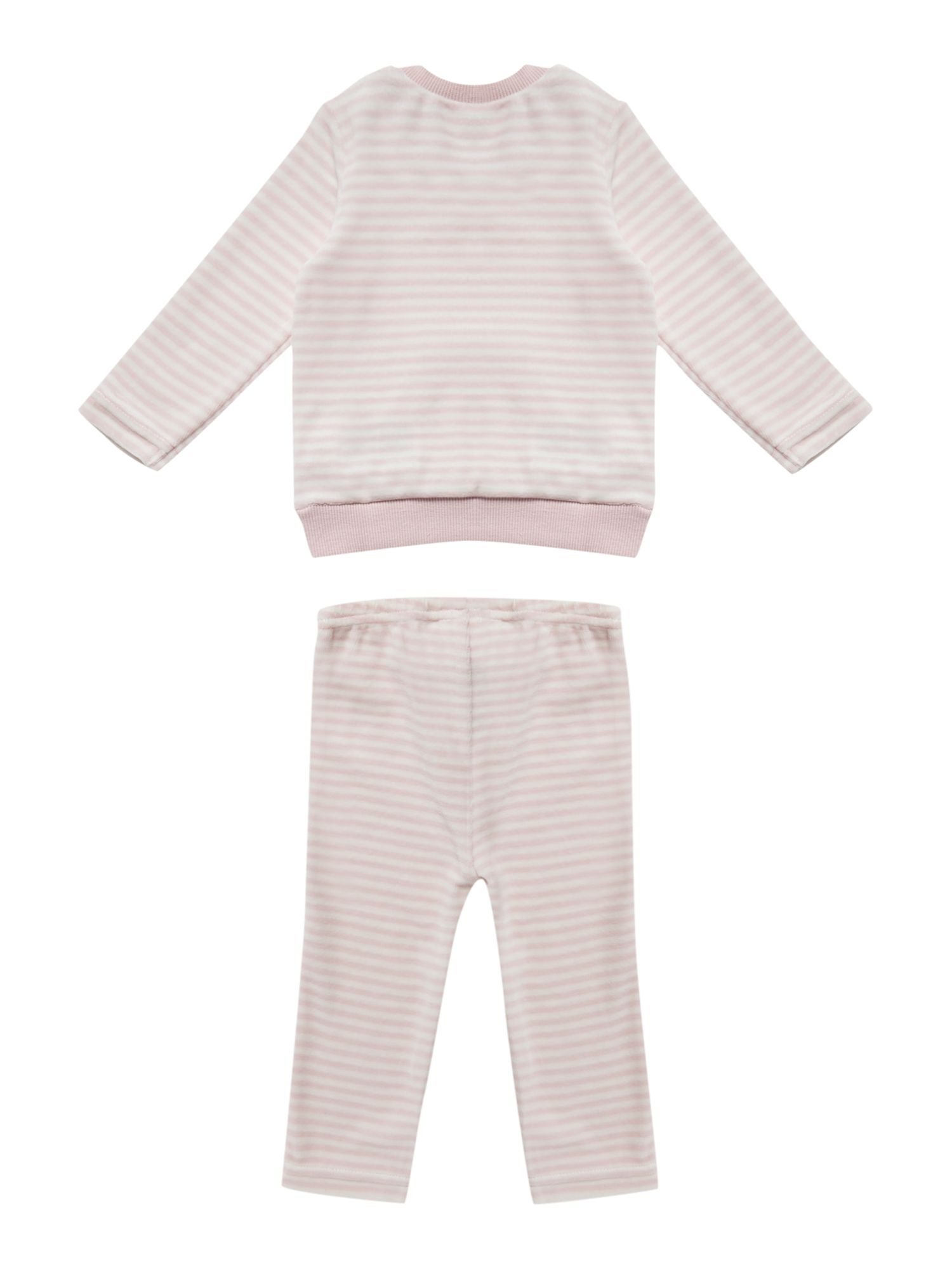 Girl`s velour striped tracksuit