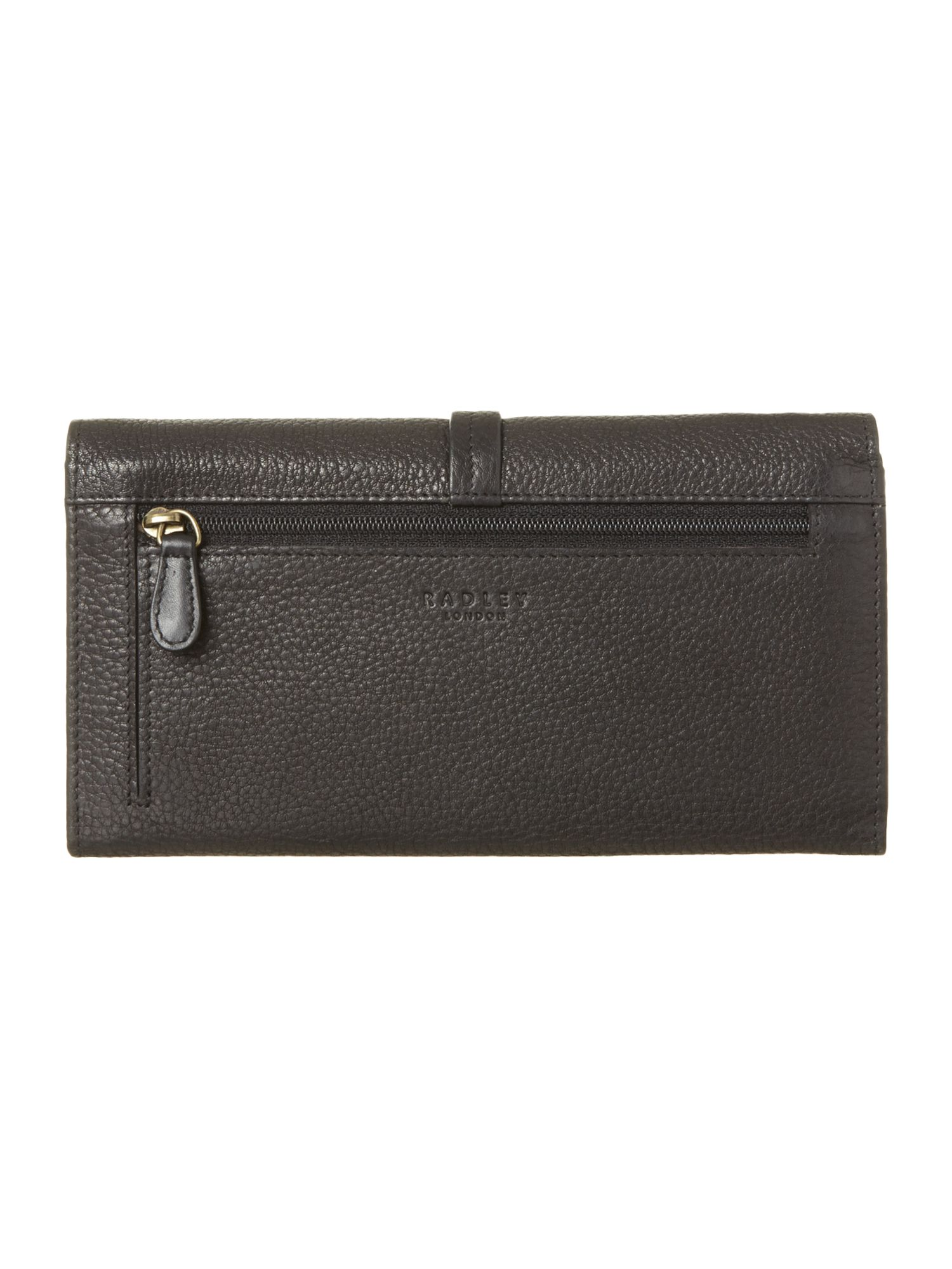 Grosvenor large black flap over purse