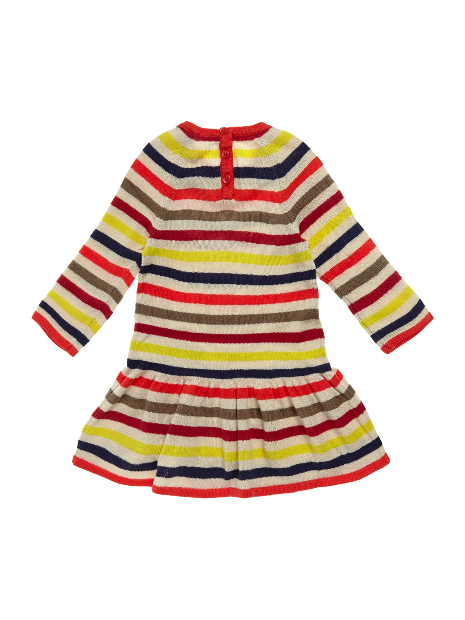 Girl`s knit stripe dress
