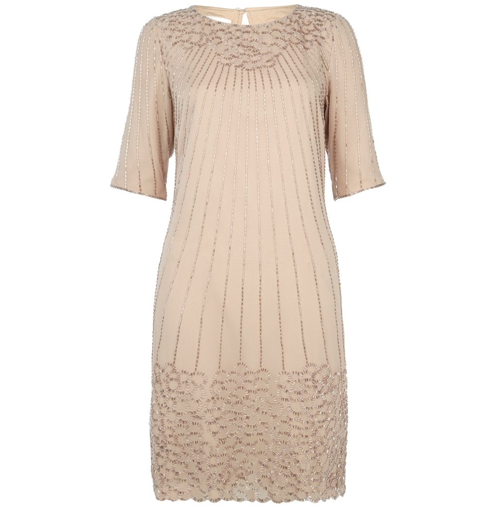 Hobbs Invitation Amersham dress, Oyster