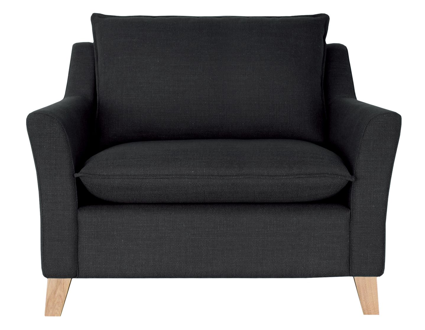 Capri snuggler chair charcoal