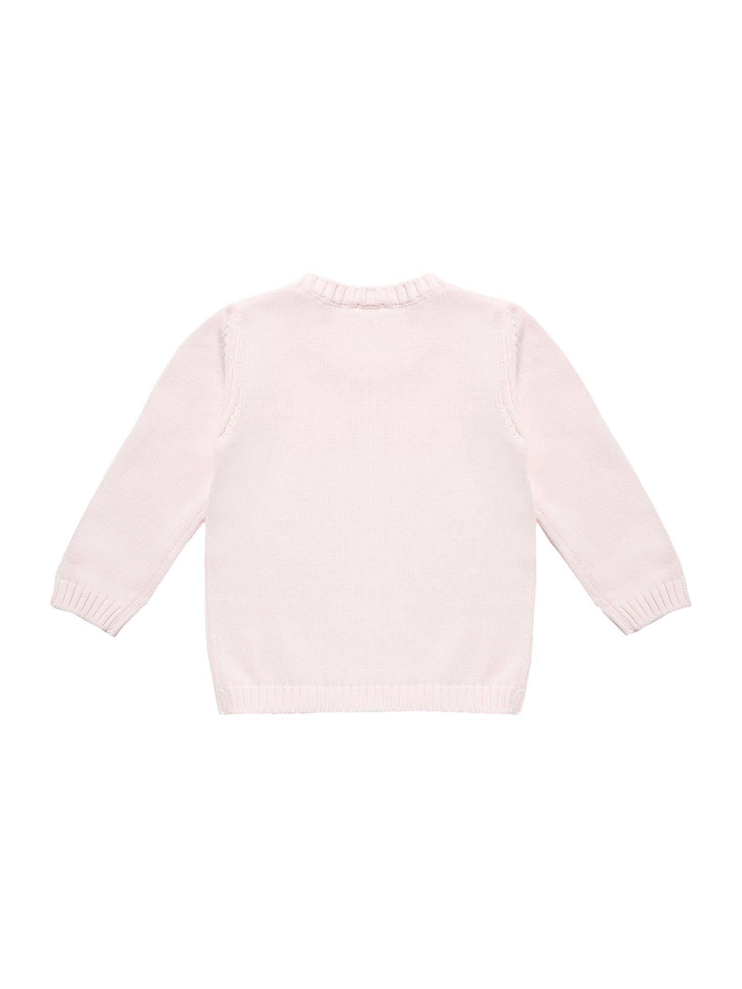 Girl`s logo knitted top