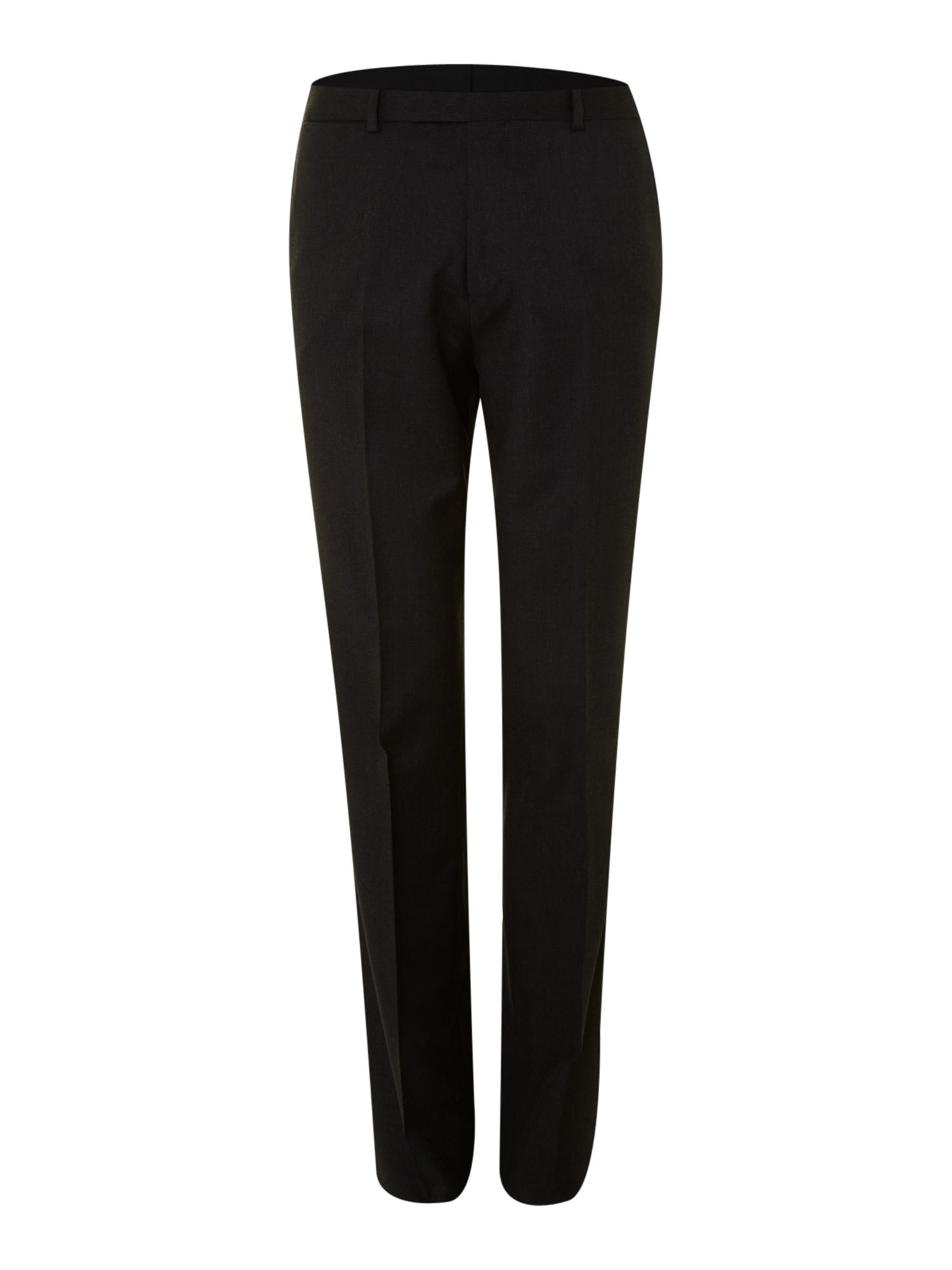 Crepe regular fit suit trousers