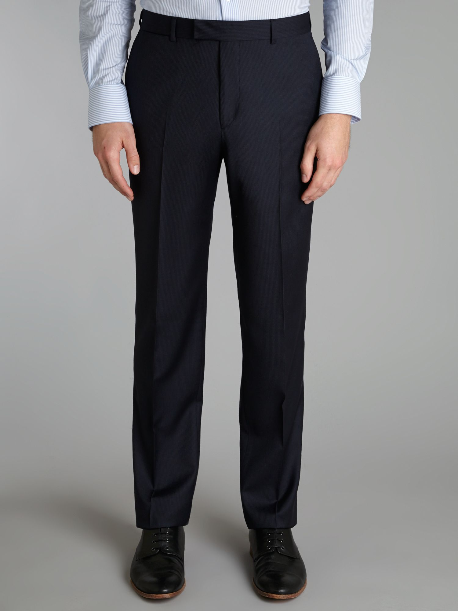 Fine stripe regular fit suit trousers