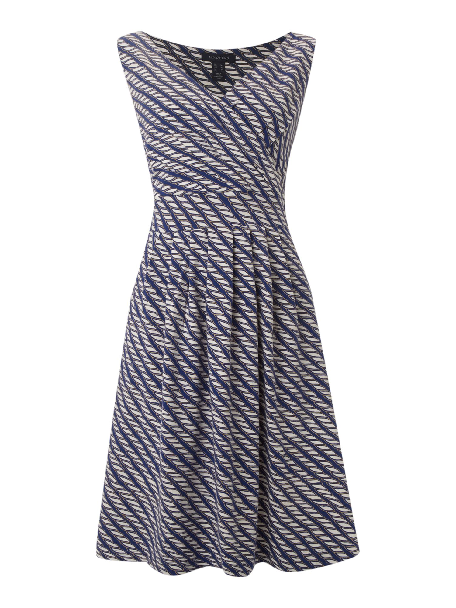 Pleated front crossover dress