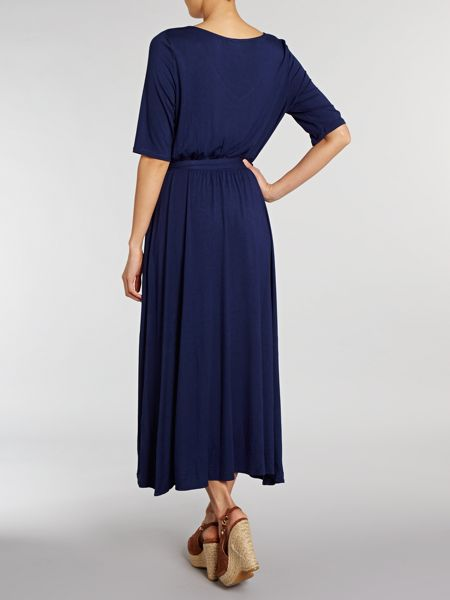 Lands' End Asymetric fluid wrap dress