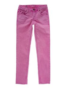 Girl`s 5-pocket coloured slim pencil leg jeans