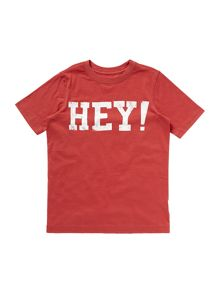Boy`s hey graphic t-shirt