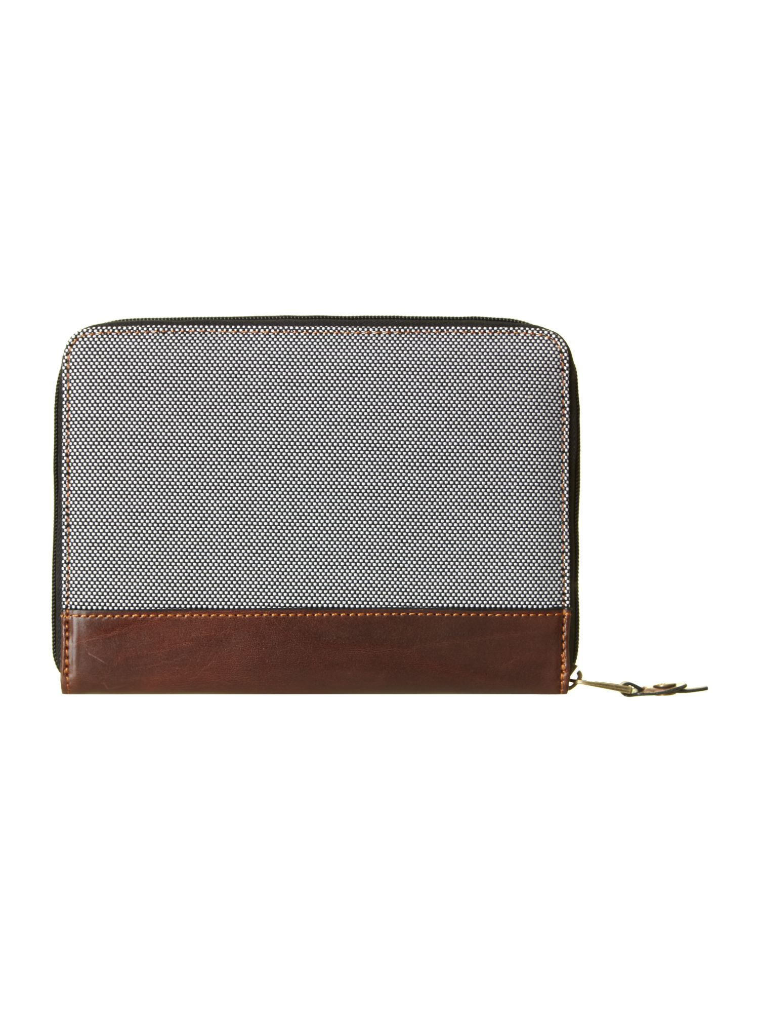 Nylon leather mix small tablet case