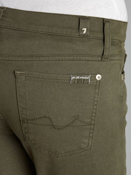 7 For All Mankind The Skinny jeans in Olive