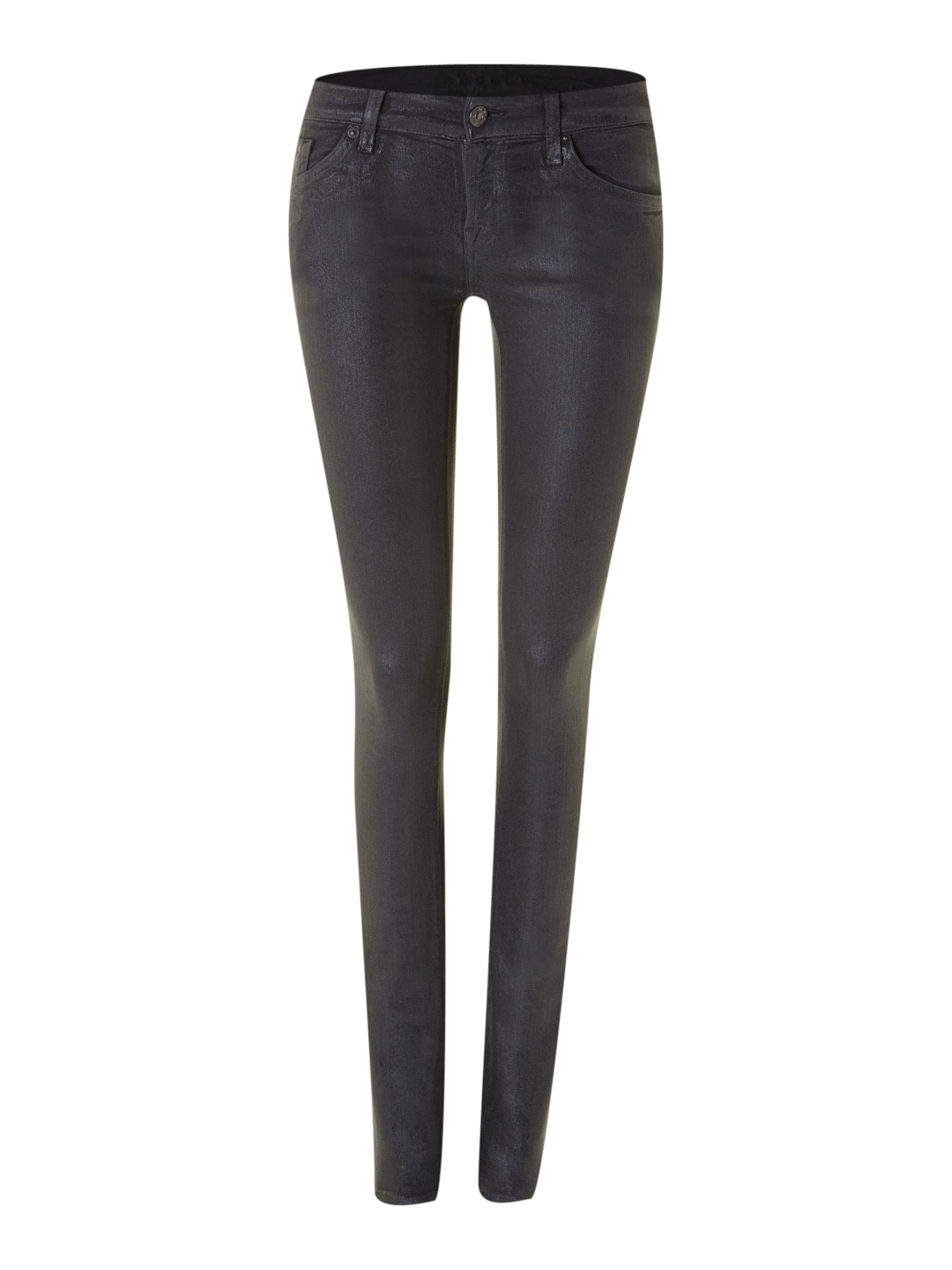 Olivya skinny coated jeans in Anthracite Grey