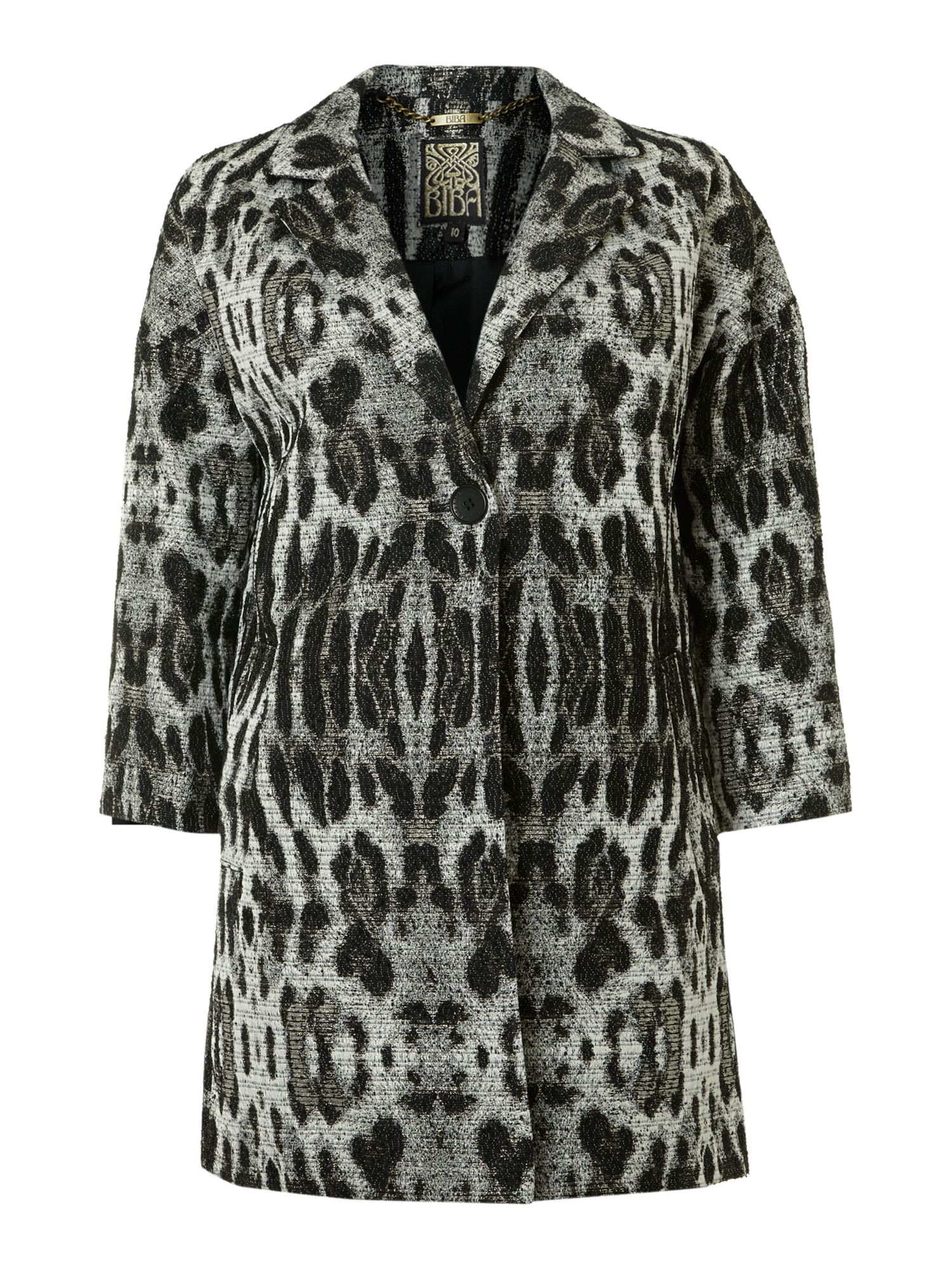 Animal texture car coat