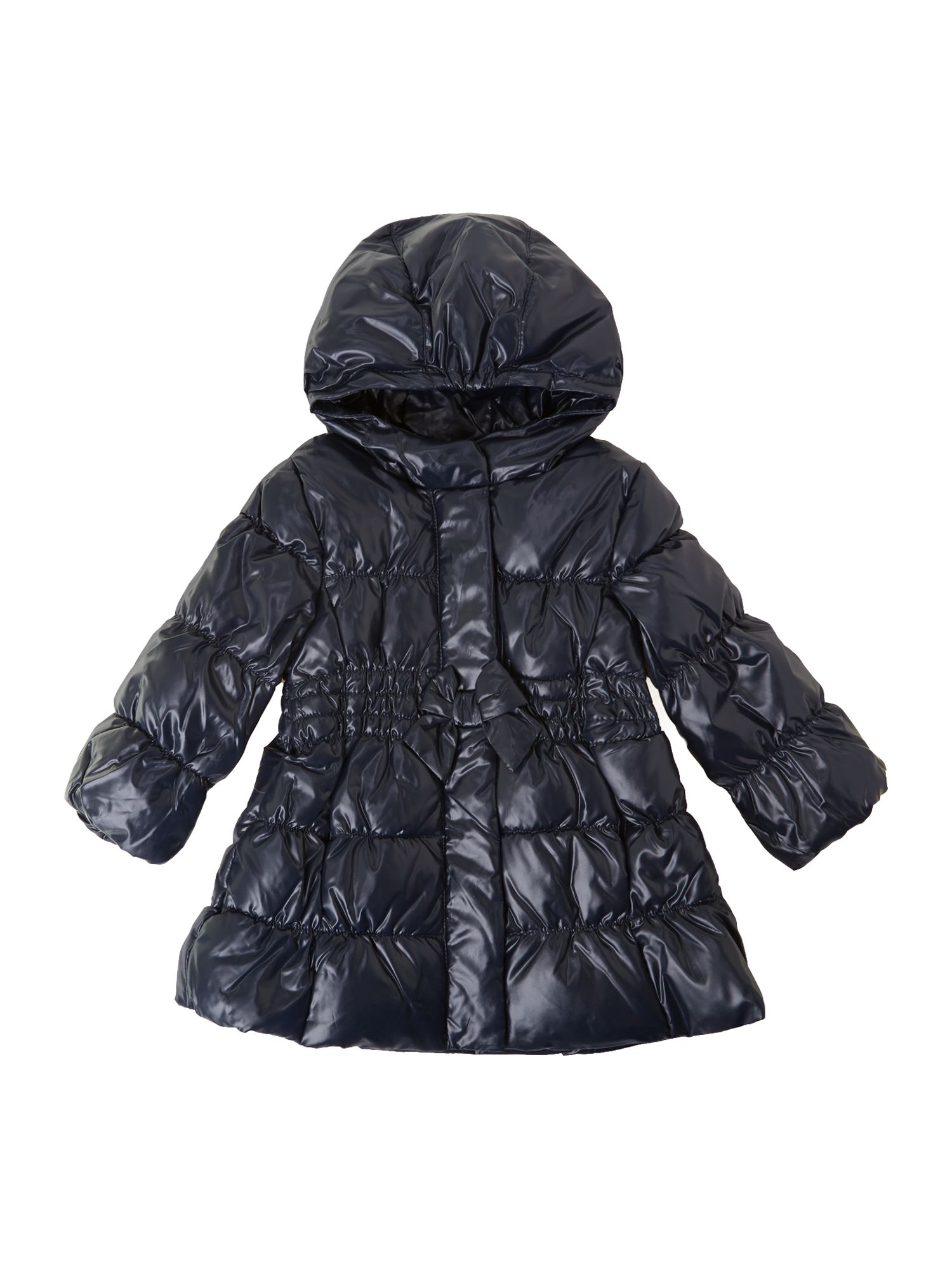 Girl`s bow padded coat