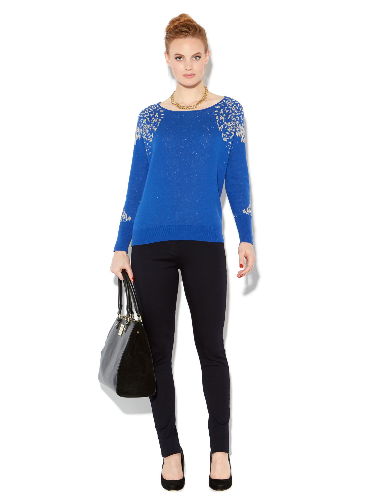 Leopard lurex knit