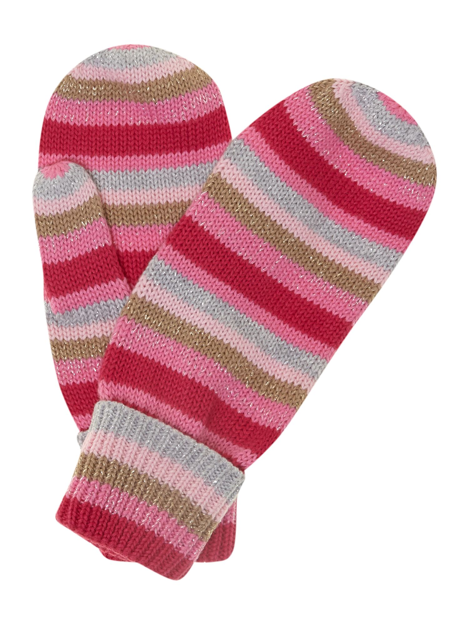 Girl`s striped gloves