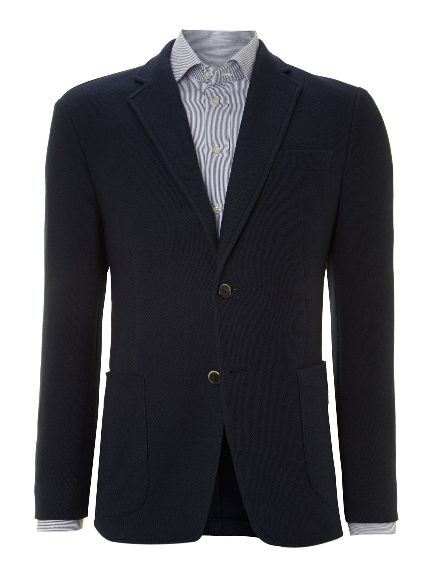 Honeycomb piquet blazer