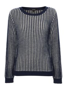 Chunky plaited textured jumper