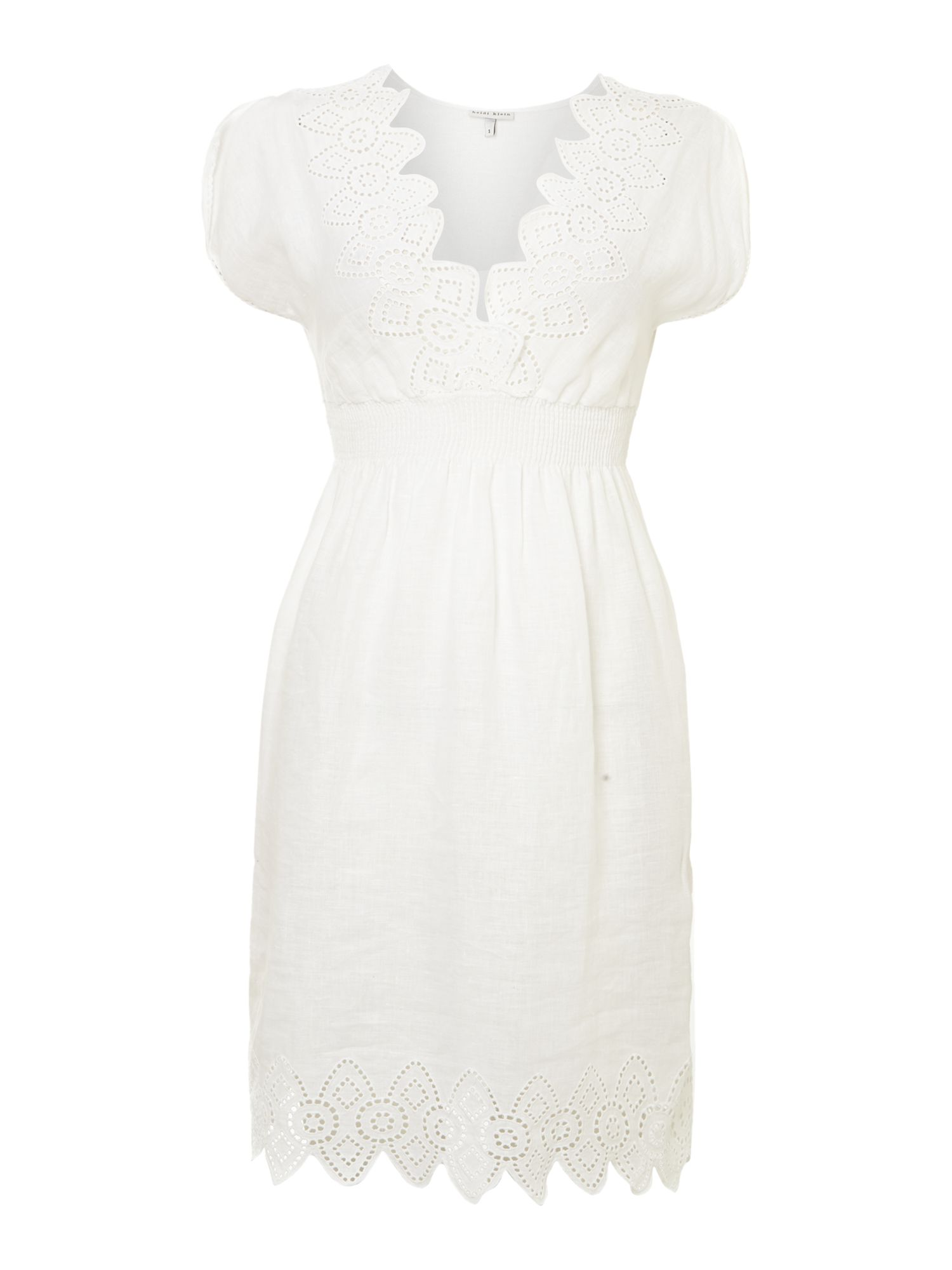 Soleil cutwork bandeau dress