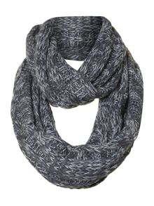 Bicolour cable knit snood