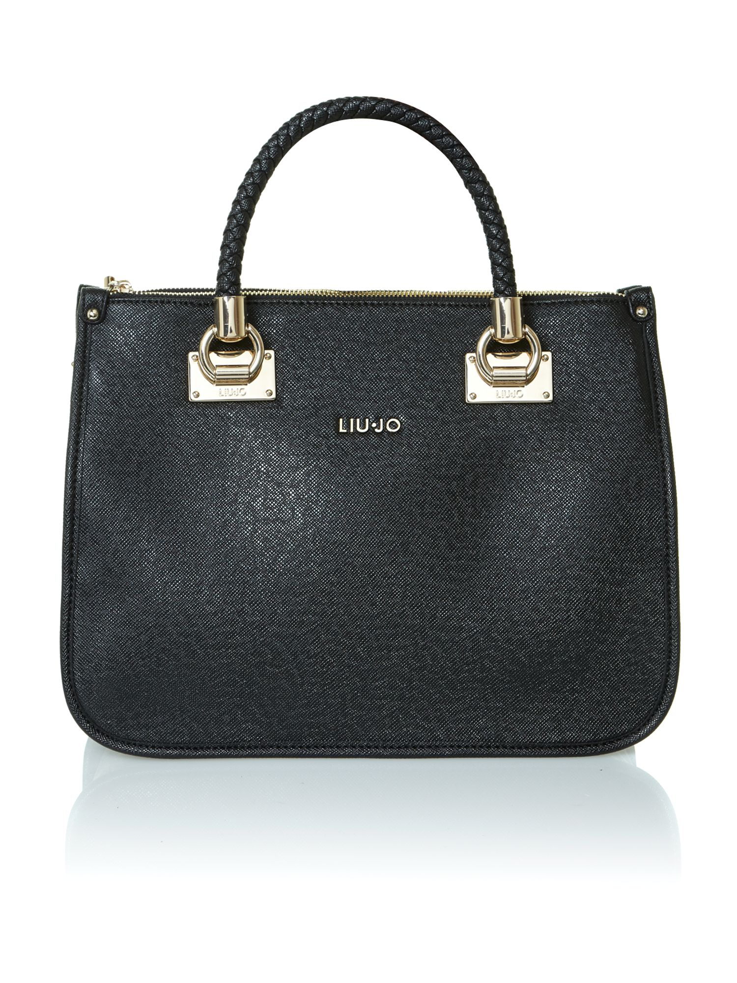 Anna Black Saffiano tote bag