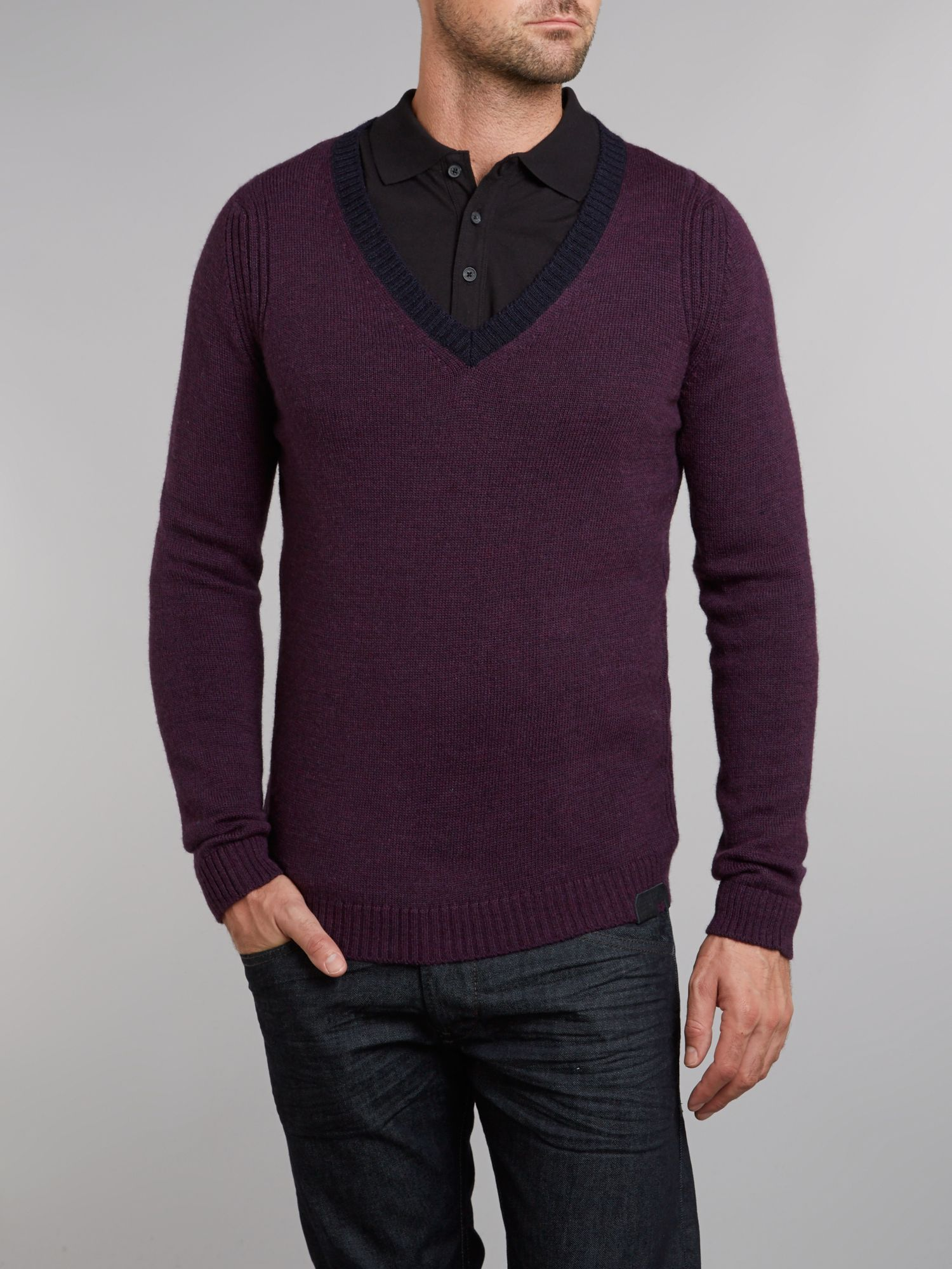 Vee neck knit