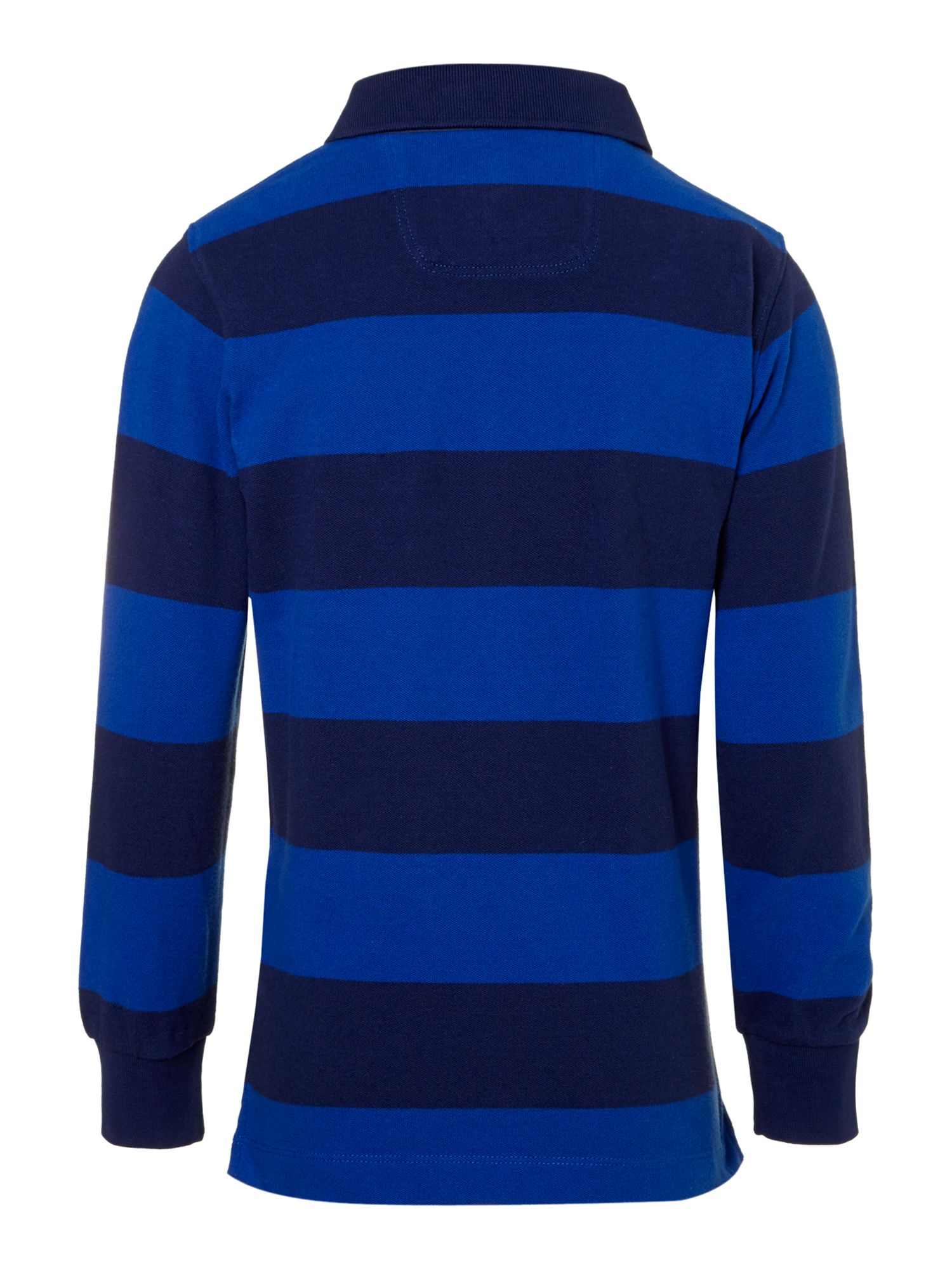 Boy`s long-sleeved striped polo shirt