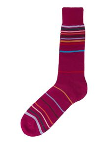 Paul Smith London Random multi stripe sock