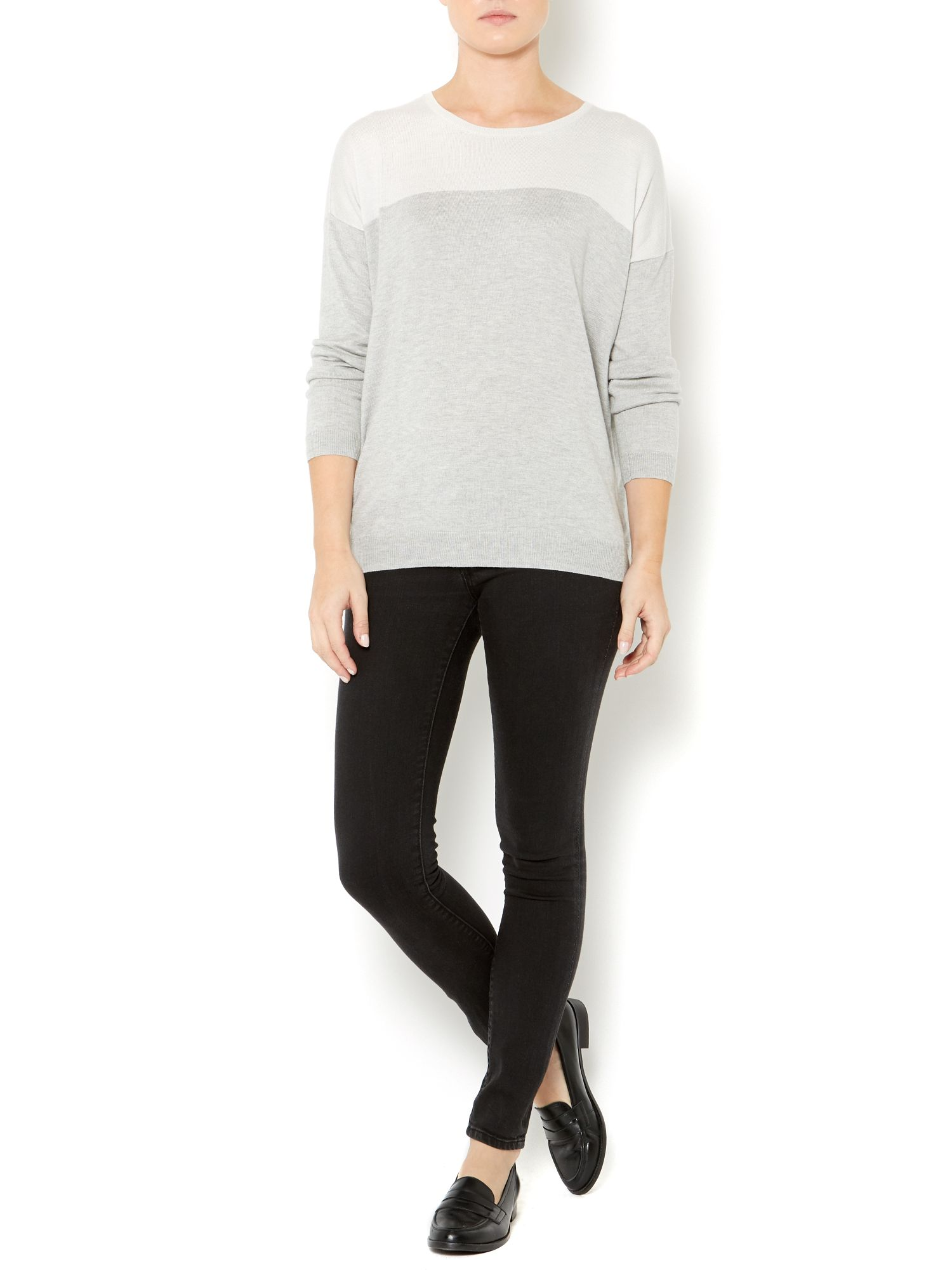 Ladies colour block jumper