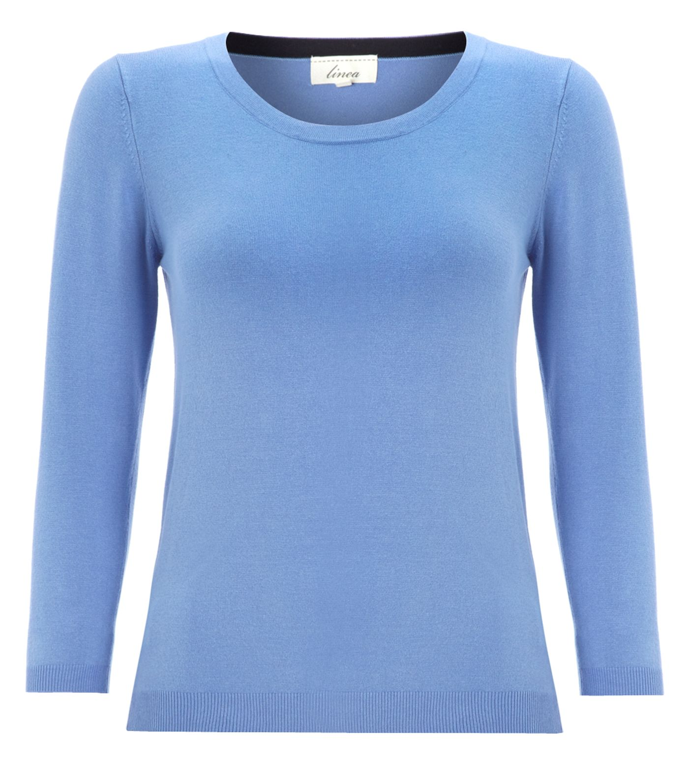 Essential 3/4 sleeve tipped jumper