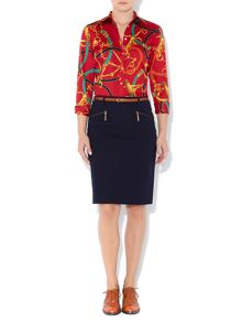 Pencil skirt with zip detail
