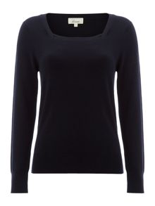 Essential square neck jumper long sleeve