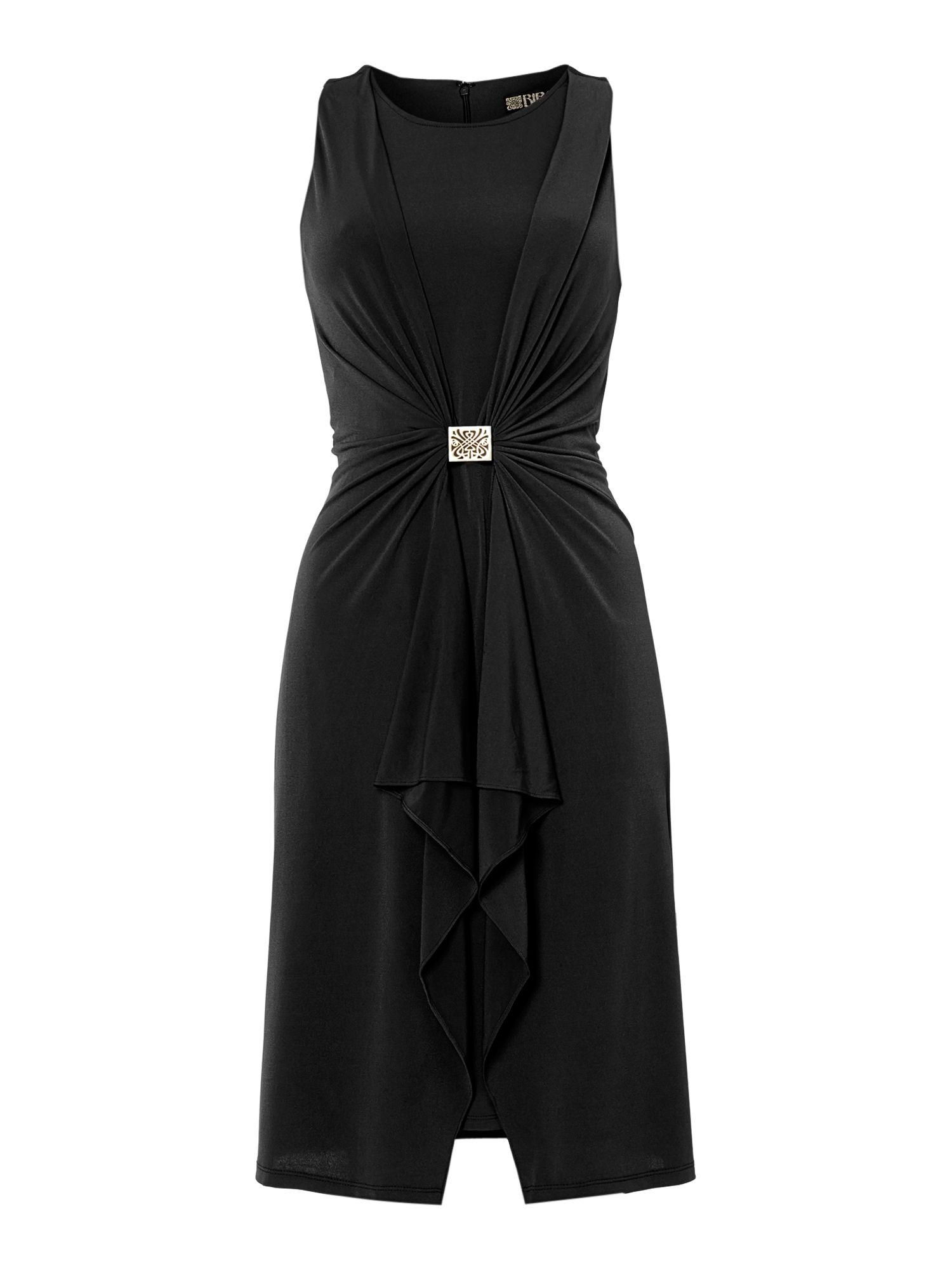 Drape biba logo hardware jersey dress